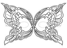 Carnival Masks Coloring Pages Carnival Crafts, Carnival Masks, Printable Masks, Printables, Free Printable, Halloween Masks, Halloween Crafts, Easy Halloween, Butterfly Mask