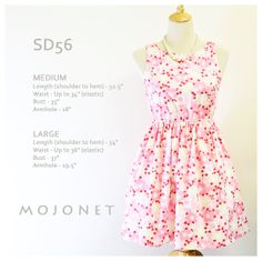Japanese Cherry Blossom Sakura Pink Floral Cotton Sundress Casual Dress Vintage Bridesmaids Sleeveless Cotton Size M & L Free Alteration