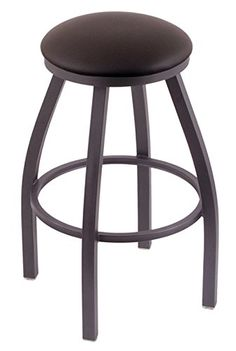 Holland Bar Stool Co. XL 802 Misha Pewter Swivel Tall Bar Stool, Allante Espresso