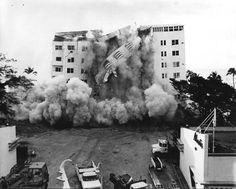 Florida Memory - Demolition of the Atlantis Hotel - Miami Beach, Florida