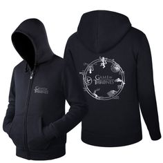 Buy now Trendy fashion SweatshirtDiffer Game Of Thrones SILVER SIGAL Seven Houses Graphic Zip Up Leisure Tracksuit Men Coat just only $30.00 with free shipping worldwide  #hoodiessweatshirtsformen Plese click on picture to see our special price for you