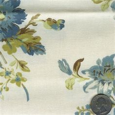 """WaverlyChambray Lorelei drapery fabric is printed on 100% cotton and ideal for curtains, drapery, pillows, bedding, crafts  more 54"""" wide - 100% cotton"""