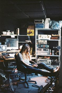 """quentindebriey: """" Caroline de Maigret at home. Tony Brown, French Icons, Music Studio Room, Recording Studio Design, Dream Music, Indie Girl, Life Design, Poses, In This Moment"""