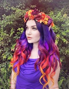 Magic Spectrum #Purple | Colourful Mabon Hair