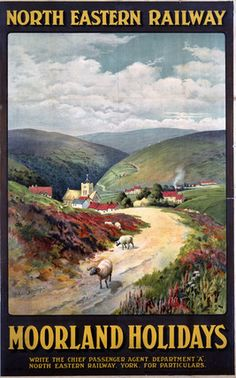 Moorland Holidays, Yorkshire - North Eastern Railway by James Symington
