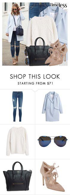 """2129. Blogger Style: Brooklyn Blonde"" by chocolatepumma ❤ liked on Polyvore featuring Oris, Current/Elliott, H&M, MANGO, MICHAEL Michael Kors, CÉLINE, Manolo Blahnik, women's clothing, women's fashion and women"