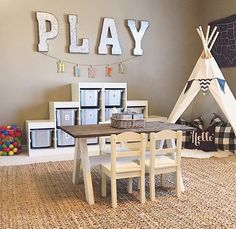 I like the teepee idea next to the reading corner