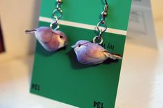 Little purple bird earrings by popstarscrafts on Etsy, $5.00