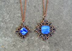 Hey, I found this really awesome Etsy listing at https://www.etsy.com/listing/248747987/copper-pendants-blue-mother-of-pearl