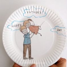 Fathers Day Craft Celebrate father-child relationship by making this cute Fathers Day craft for kids. This easy paper plate craft is a perfect preschool project for kids to do on Fathers Day. The post Fathers Day Craft appeared first on Paper Ideas. Preschool Projects, Craft Activities For Kids, Projects For Kids, Crafts For Kids, Father's Day Activities, Craft Kids, Fathers Day Cards, Happy Fathers Day, Easy Fathers Day Craft