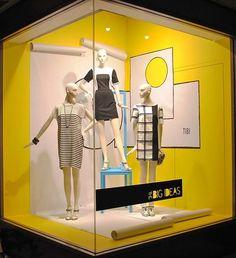 Nordstrom corner window display. #retail #merchandising #windowdisplay