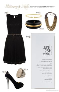 Stationery & Style: Modern Bridesmaid Outfit | featuring our 'Love Logo No. 3' wedding invitation