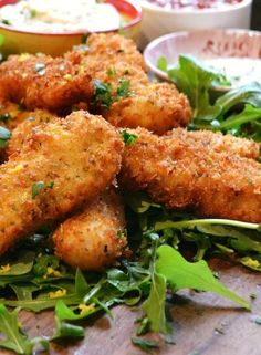 Low FODMAP Recipe and Gluten Free Recipe - Fish goujons with tartare sauce www.ibssanoplus.c...