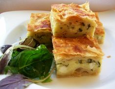 A Delicious Cheese and Parsley Tray Pastry; Peynirli Tepsi Boregi | Ozlem's Turkish Table