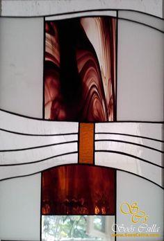Modern Térelválasztó Ólomüveg Ablak Betét  
