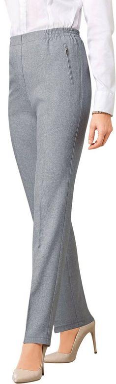 Classic Basics Hose mit fester Bundpatte vorne für 17,99€. Hose in gepflegter Optik, Polyester, Rundum-Dehnbund, 2 schräge Reißverschluss-Tasche bei OTTO