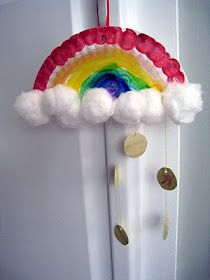 St. Paddy's Day rainbow and gold craft