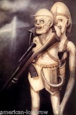 HR Giger Art Poster Print Safari Hunter Rifle Skull Baphomet Biomechanical Robot