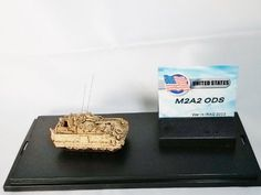 Metal Troops Creation Tank Series US Army 1:144 Ratio Bradley M2A2 ODS Infantry Fighting Vehicle, War in IRAQ 2003 Sand Figure come with dispaly box