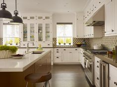 Baker Kitchen - contemporary - kitchen - san francisco - Steven Miller Design Studio, Inc.; like the height of cabinets & glass fronts