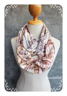 Harry Potter Hogwarts The Marauder's Map Scarf - Classic Brown by Classroomfall on Etsy https://www.etsy.com/listing/265947959/harry-potter-hogwarts-the-marauders-map