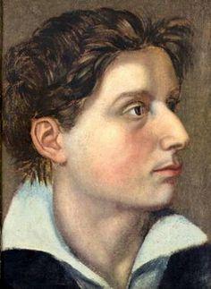 Friedrich Schiller als 21-Jähriger (1780). Gemälde von Tischbein nach einer Zeichnung von J. F. Weckherlin.