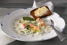 Finnish Fish Soup (kalakeitto, in Finnish). My grandpas used to make this & I hated it!  LOL. (KIDS!)
