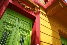 Colorful building, Caminito, Buenos, Aires, Argentina