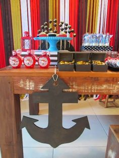 Encontrando Ideias Pirate Party Decorations, Birthday Decorations, Party Themes For Boys, Nautical Party, Party Places, Pirate Birthday, Baby Shower, 4th Birthday Parties, Kids Decor