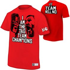 Daniel Bryan & Kane Team Hell No Authentic T-Shirt - WWE