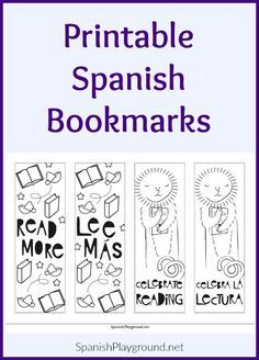 Printable Spanish bookmarks with a cool style let everyone know reading is worth celebrating. Black and white, so kids can add their own…