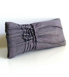 Grid Linen Textured Clutch