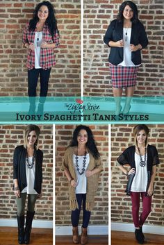 How to Style the Ivory Spaghetti Tank - The ZigZag Stripe