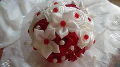 MelinetDecorCrochet / Svadobná červená kytica