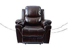 MCombo 7090 Massage Sofa Chair Vibrating Swivel Heated Lounge w/ Control (Brown)