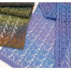 """""""Snowdrop Lace Scarf"""" knitting pattern by Donna Arney"""