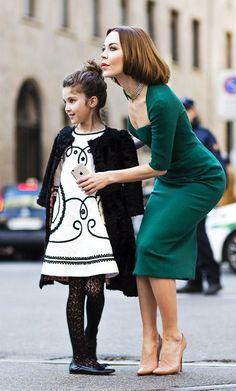 Ulyana Sergeenko with her daughter Vasilisa