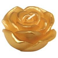 Gold rose candle