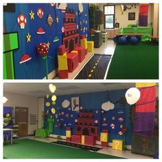 Oh my goodness! Love how used our Mario classroom transformation for level up day with multiplication! I am so inspired by all of the teachers out there already killing it! Keep rocking it! Classroom Setting, Classroom Door, Kindergarten Classroom, Classroom Themes, Classroom Organization, Halloween Cubicle, Halloween Office, Mario Bros, Mario Brothers