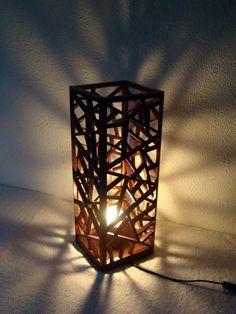 INU design Nowoczesna lampa drewniana, handmade by Kony&Rołs in 2019 Popsicle Crafts, Craft Stick Crafts, Popsicle Stick Crafts For Adults, Deco Design, Lamp Design, Deco Luminaire, Handmade Lamps, Creation Deco, Wooden Lamp