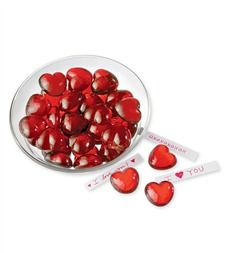 Ruby-Red Glass Hearts