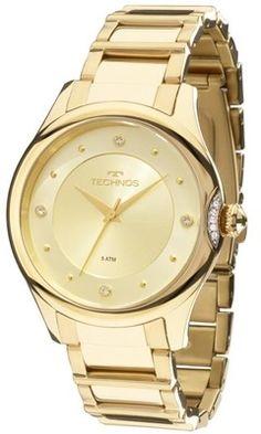 3d47ca74055 Relógio Technos Elegance Crystal Swarovski Quartz 2035MFR 4X