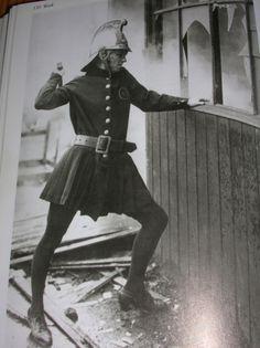 A female firefighters female brigade. London, April 1926