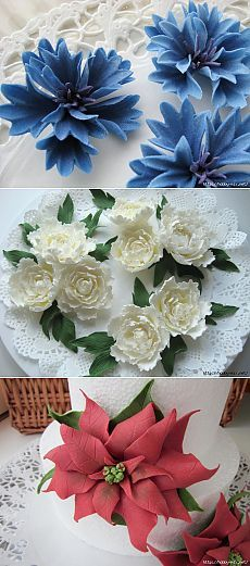 Лепка. Шикарные цветы из сахарной мастики для украшения тортов. Фото мастер- классы- часть 2.. Обсуждение на Блоги на Труде
