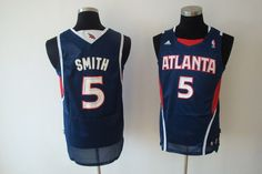 $22 Adidas NBA Jerseys Atlanta Hawks Josh Smith #5 Blue