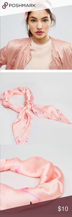 ASOS flamingo print head scarf. ASOS peachy pink flamingo print scarf. So cute! Brand new. ASOS Accessories Scarves & Wraps
