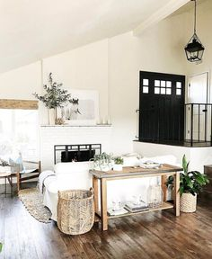 Real Life Rooms: A Modern Country Living Room Makeover