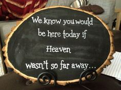 wedding ideas and decorations | Rustic wedding decoration - Memorial sign - Chalkboard sign on Etsy, $ ...