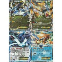 Lot de 4 cartes Pokémon EX : Kyurem Blanc & Noir, Lugia et Keldeo HOLO REVERSE PROMO 180 PV Noir & Blanc Neuve FR RARE