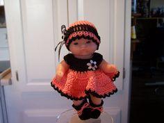 """5 """"Berenguer Doll - 5"""" Itty Bitty Doll - 5 """"Beaucoup de choses à Love Doll - 5« poupée Ooak - 5 """"Cupcake Doll - crochet Outfit pour 5"""" Poupées Berenguer"""